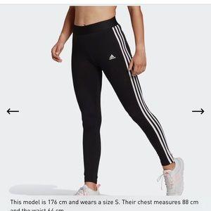 Adidas Women's Essentials 3-Stripe Leggings Size L